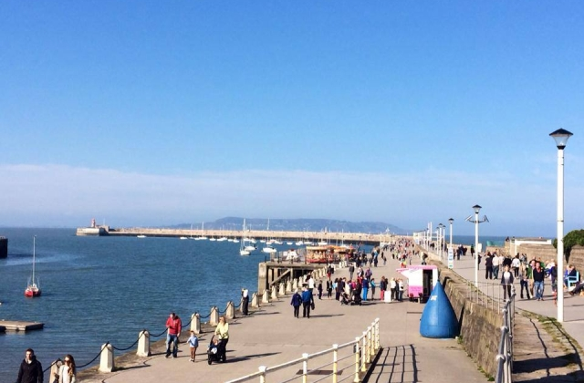 What a day for a stroll on the Pier in Dún Laoghaire