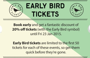 Early Bird Tickets for Spring 2015