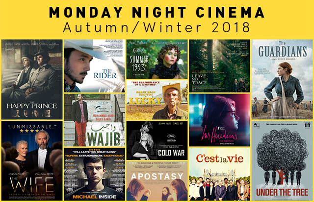 Monday Night Cinema Autumn/Winter 2018